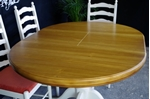 Picture of New Manduria Pine Extendable Pedestal Table