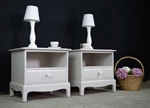 Picture of Pair of Stag Bedside Tables in Pavilion Grey
