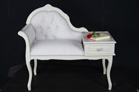 Picture of Vintage Telephone Seat With Side Table and Drawer