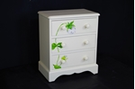Picture of Small Pine 3 Drawer Chest with Flower Art