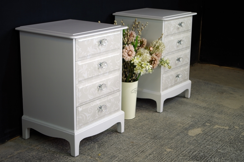 Picture Of Pair Stag 4 Drawer Bedside Tables