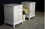 Picture of Pair of Stag 4 Drawer Bedside Tables