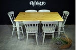 Picture of 5ft Pine Farmhouse Table + 6 Slat back chairs in Hardwick
