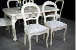 Picture of Antique Wind Out Cabriole Leg Table and 6 Balloon Back Chairs