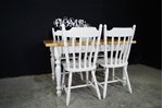 Picture of Two Drawer Pine Farmhouse Table and 4 Chairs