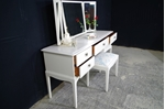 Picture of Stag Dressing Table with Stool - Slipper Satin Oriental Garden