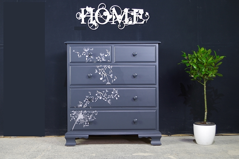 Picture of New Pine Chest of 5 Drawers Dandelion Notes