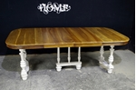 Picture of French Henri II style Walnut Table + Admiralty Flute Legged Chairs