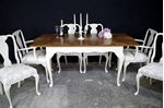 Picture of French-Style Walnut Extending Dining Table + 6 Chairs