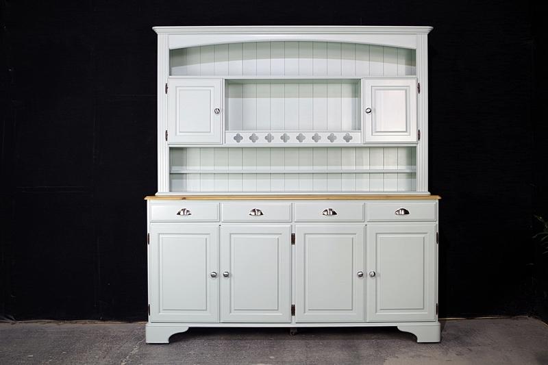 Picture of Ducal 4 door Pine Dresser in 'Tinkerbell'.