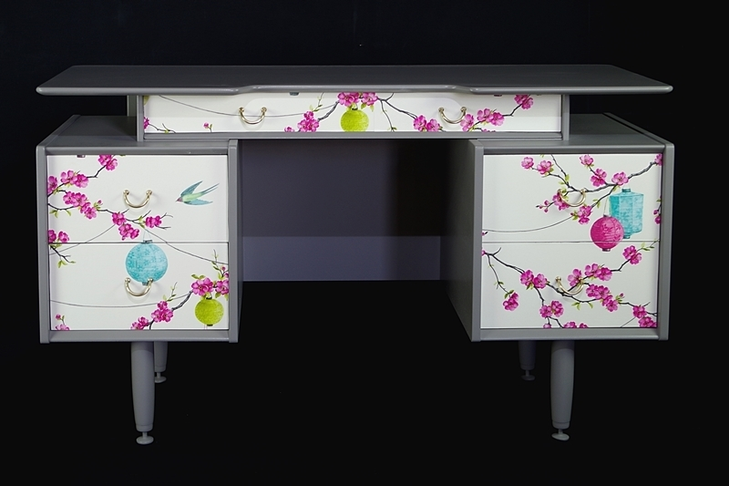 Vintage 1950s G Plan Dressing Table Oriental Style