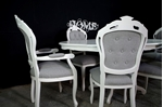 Picture of French Style Dining Set - Linen Upholstery