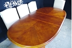 Picture of Vintage Oval Mahogany Extending Table + 8 New Parson's Chairs