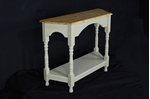 Picture of Tapered Top Pine Console Table French Gray