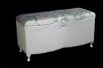 Picture of Vintage Lloyd Loom Ottoman - twin curved front