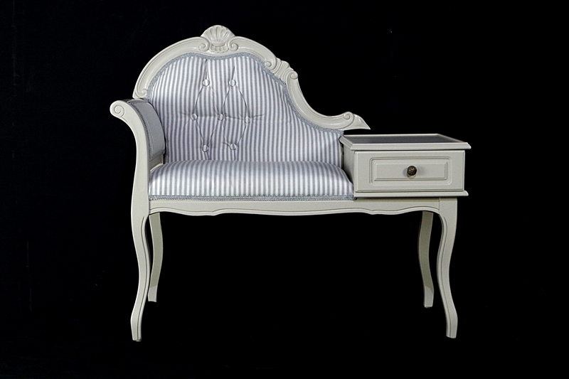 High Quality Picture Of Vintage Telephone Seat In Spell Gray