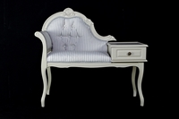Picture of Vintage Telephone Seat in Spell Gray