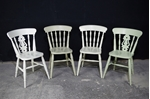 Picture of Two Round  Beech Top Pedestal Table + 4 Farmhouse Chairs