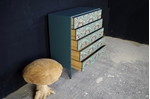 Picture of Retro 5 Drawer Chest Art Deco Decoupage Drawers