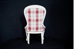 Picture of Queen Anne Occasional Chair in Cranberry Highland Check