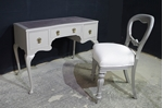 Picture of Antique Ladies' Kneehole Desk with Balloon Back Chair