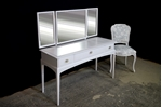 Picture of Petite Stag Minstrel Dressing Table with Vintage French Style Chair