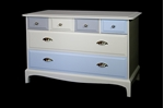 Picture of Stag Six Drawer Chest  Titania / Blue Tulle