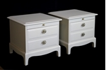 Picture of Pair of Stag Bedside Tables in Ammonite