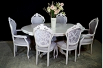 Picture of French Style Upholstered Dining Set in Pavilion Gray