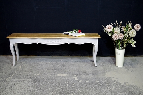 Picture of New Hardwood French Style Long Bench
