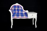 Picture of Vintage Telephone Seat - Bonnie Tartan