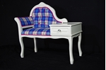 Picture of Vintage Telephone Seat - Bonnie Tartan