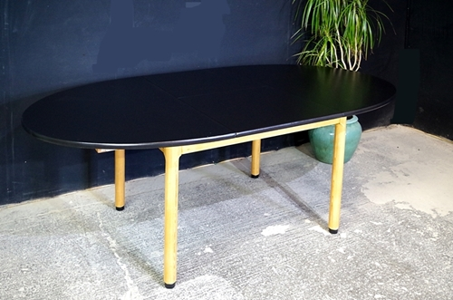 Picture of Pine Extending Table with Ebony Varnished tops