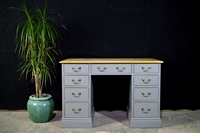 Picture of Vintage Pine Kneehole Desk