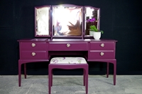 Picture of Stag Dressing Table and Stool in Brinjal