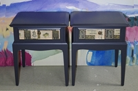 Picture of Pair of Stag Bedside Tables - Rossi Music
