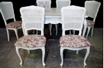 Picture of French-Style 'Gold & Feather' Extending Dining Table + 6 Bergere Chairs