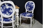 Picture of Large Antique Mahogany top table with 8 Balloon back Chairs