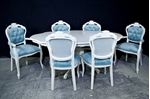 Picture of French Style Pedestal Table + 6 Louis Chairs Laura Ashley Upholstery