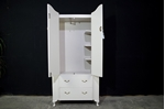 Picture of Petite Vintage Breakfront Wardrobe with Flower Art