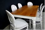 Picture of Large Antique Mahogany top table with 6 Balloon back Chairs