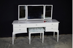 Picture of Stag Dressing Table with Stool in Pointing