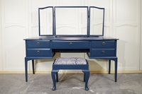Picture of Stag Minstrel Dressing Table with Stool in Hague Blue