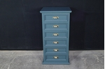 Picture of Tall Pine Chest of Drawers in Inchyra Blue