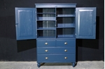Picture of Antique Linen Press in Hague Blue