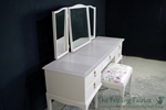 Picture of Stag Minstrel Dressing Table with Stool in Dove Tale