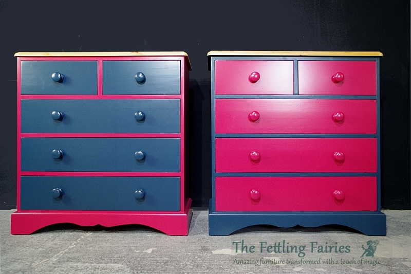 Picture of A Pair of Pine 5 Drawer Chests
