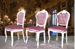 Picture of French Style Designer Upholstered Dining Set in Pointing