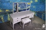 Picture of Stag Minstrel Dressing Table with Stool in Pavilion Gray