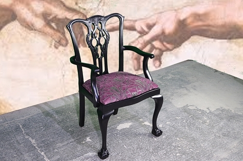 Picture of Edwardian Carved Back Armchair Gatsby Style
